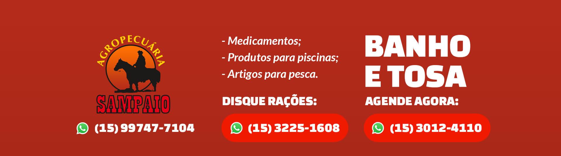 Banner - Fachada Agropecuária - Agro Sampaio